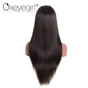 Oxeye girl Brazilian Straight Hair Wig Pre Plucked Lace Front Human Hair Wigs For Black Women Non Remy Hair Wigs With Baby Hair
