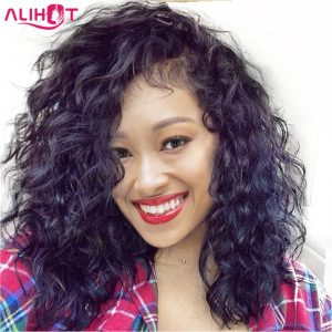 ALI HOT Short Bob Wigs With Baby Hair Pre Plucked Hairline Lace Front Human Hair Wigs For Black Women Brazilian Remy Hair