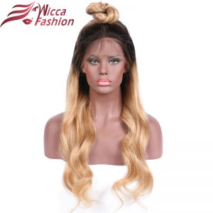 dream beauty Body Wave Ombre 27 Color Front lace wig Non-Remy Hair Brazilian Human Hair Wigs With Baby Hair