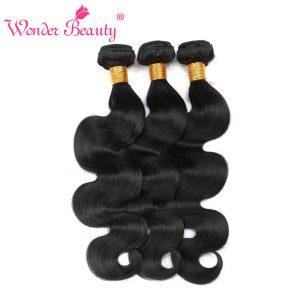 Wonder Beauty Brazilian Body Wave Natural Black Human Hair Bundle 8''-26'' 1 Piece Hair Weft Only Free Shipping
