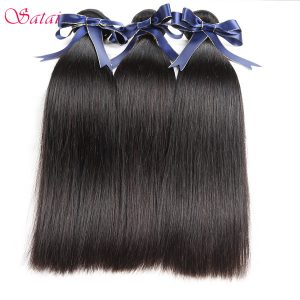 SATAI Brazilian Straight Hair Human Hair Bundles 1 Piece Hair Extension Natural Color 8-28inch Remy Hair No Tangle Free Shipping