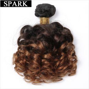 Spark Bouncy Curly Remy Hair 3 Tone Ombre Brazilian Hair Weave Bundles 12-26inches T1B/4/30 Human Hair Extensions Free Shipping