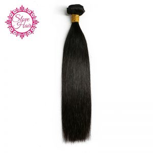 Slove Hair Brazilian Straight Remy Human Hair Weave Bundles Natural Black Color Double Weft Hair Extensions Free Shipping 8-28''