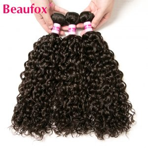 Beaufox Brazilian Water Wave Hair Bundles 100% Remy Human Hair Extensions Bundles Can Buy 3 Or 4 pcs Only 1 Bundle Deal