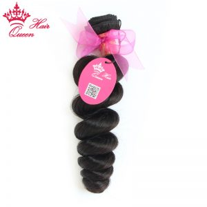"Queen Hair Products Brazilian Loose Wave Remy Hair Bundles 10"" - 30"" Natural Color 1 Piece 100% Human Hair Weave"