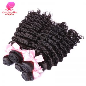 QUEEN BEAUTY HAIR Product Brazilian Hair Weft 1 Piece Remy Hair Bundles Curly Weave Human Hair Natural Black Color Shipping Free