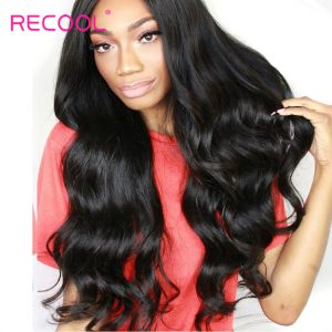 Recool Hair Brazilian Body Wave Bundles Natural Color 10-30inch Remy Hair Weave Extensions 100% Human Hair Bundles Can Be Ombre