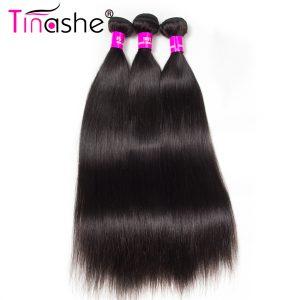 Tinashe Hair Brazilian Straight Hair Bundle Deals Natural Black Color 10-30 inch Remy Hair Weave Extension Human Hair Bundles