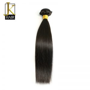 JK Brazilian Hair Weave Bundles Remy Straight Human Hair 1 Bundle Extension Natural Black Color Can Be Dyed Curled 8-28 Inch