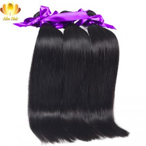 Ali Afee Hair Products Brazilian Straight Hair 1pc Remy Human Hair Extension 100g Natural Color No Tangling No Shedding