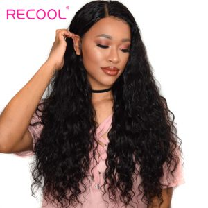 Recool Brazilian Hair Weave Bundles 10-28 inch Remy Hair Extensions Natural Black Color Wet And Wavy Human Hair Bundles