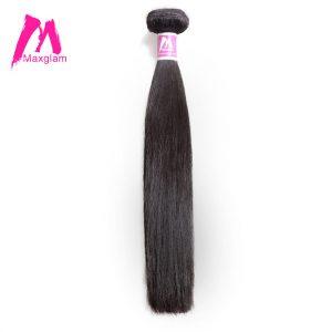 Maxglam Human Hair Bundles Straight Brazilian Hair Weave Bundles Extension Remy Hair 1PC Free Shipping