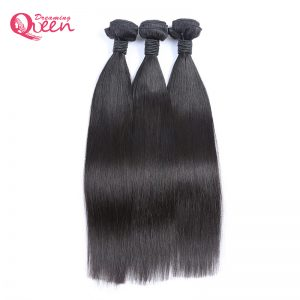 Brazilian Straight Human Hair Bundles Weave 100% Remy Human Hair Extension Natural Black Color Dreaming Queen Hair Products