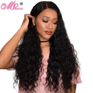Mshere Hair Brazilian Water Wave Hair 100% Remy Human Hair Weave Bundles Can Be Dyed And Bleached Thick and Full Natural Color