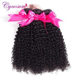 Cynosure Afro Kinky Curly Weave Human Hair Bundles Natural Black Brazilian Hair Weave Bundles 10''-28'' Non-remy Hair