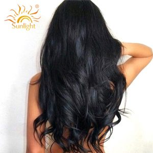 Sunlight Brazilian Body Wave Hair 100% Human Hair Weave Bundles 100g/pc Non Remy Hair Extensions Natural Color Can Be Colored