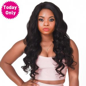 [TODAY ONLY] Brazilian Body Wave Bundles 100% Human Hair Weave Bundles Natural Color Hair Extension Non Remy Hair Can Buy 3 or 4