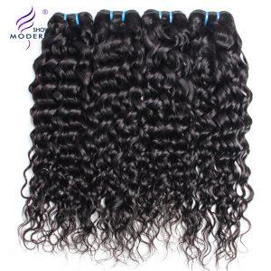 Modern Show Brazilian Water Wave Hair Weave Bundles Human Hair Extension 1Pcs Only Non-Remy Hair 10-28 inch Can Buy 3/4 Bundles