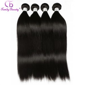 Trendy Beauty Hair Brazilian Straight Human Hair weave Bundles Non Remy Hair natural black color 100g per pcs 8-26 inches