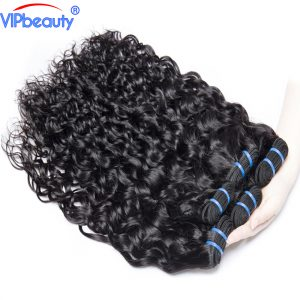 Vip beauty Non-remy Brazilian water wave weaving hair extension 100% human hair bundles can be dyed 1 pcs only