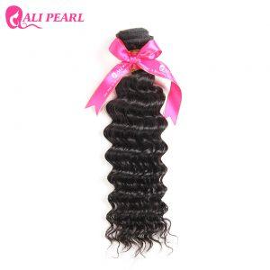 Ali Pearl Hair Deep Wave Brazilian Hair Weave Bundles Human Hair Natural Color 1b Free Shipping Non Remy Hair 1 Piece Only
