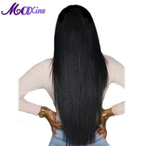Maxine Hair Products 1 Bundle Brazilian Straight Hair 100g Thick Human Hair Weaves 1B Natural Black Non Remy Hair Extension