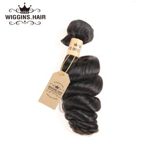 Wiggins Brazilian Loose Wave 100% Human Hair Bundles Hair Weave Natural Black 1 Piece Only 8-30 inch 100g Free Shipping Non Remy