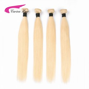 Carina Hair Blond Brazilian Hair Bundles 100% Human Hair Straight Non Remy 613 Hair Extensions Free Shipping 1PC