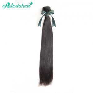 Asteria Hair 100% Brazilian human Hair Bundles Straight 12-30 Inches Natural Black color Non-Remy Hair Extension Free Shipping