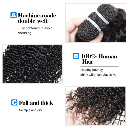 Brazilian curly hair weave bundles 1 piece non remy hair extension VIP beauty 100% human hair weaving natural color 1b 10-28inch