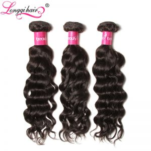 "Longqi Hair Brazilian Water Wave Bundles Non Remy Hair Natural Color 100% Human Hair Weaving 10""-26"" Free Shipping"