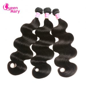 "Queen Mary Brazilian Body Wave One Bundle Non-Remy Hair Bundles 10""-26"" Natural Color 100% Human Hair Weaving Free Shipping"