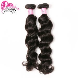 Beauty Forever Natural Wave Brazilian Hair Double Weft 1 Bundle Non-remy Human Hair Weaves 10-26inch Natural Color Free Shipping