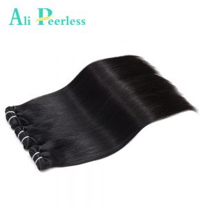 "Ali Peerless Hair Peruvian Straight Hair 100% Virgin Human Hair Double Weft 10""-28"" Nature Color 1 Piece Weaving Free Shipping"