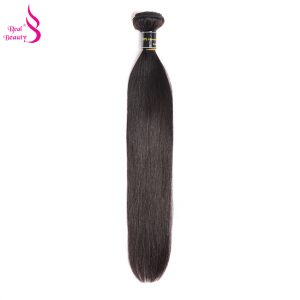 Real Beauty 100% Peruvian Virgin hair Unprocessed straight Human Hair bundles No tangle And Shed Can Be Dyed 12-24 Natural Color