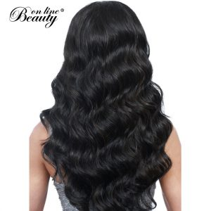 Beauty On Line Virgin Hair Peruvian Body Wave Human Hair Bundles Natural Color Unprocessed Hair Weave 3/4 Bundles For A Head