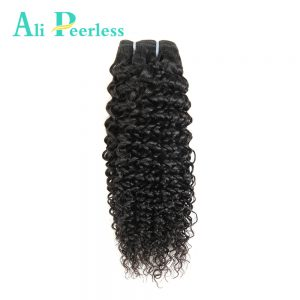 Ali Peerless Hair Virgin Peruvian Kinky Curly Unprocessed Human Hair 10inch to 28inch One Bundle Nature Black Free Shipping