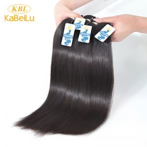 KBL Peruvian Virgin Hair Straight 12-26 inches 100% Unprocessed Human Hair Weaves Bundles Kabeilu Natural Color Hair Extension