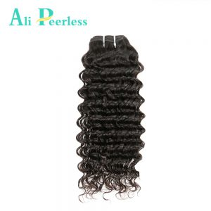 Ali Peerless Hair Peruvian Deep Wave Virgin Human Hair 10-28 inch Nature Color Double Weft Weaving Free Shipping One Piece