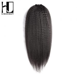 HJ Weave Beauty Peruvian Virgin Hair Kinky Straight Hair 100% Unprocessed Human Hair Weave Bundles Free Shipping