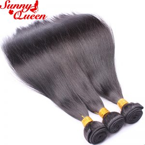 Peruvian Virgin Hair Straight 100% Unprocessed Human Hair Weave Extensions Nature Color 1 Bundle Sunny Queen Hair Products
