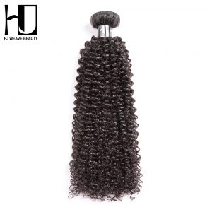 HJ Weave Beauty Peruvian Kinky Curly Virgin Hair Natural Color 100% Human Hair Bundles 12-28 inch Free Shipping