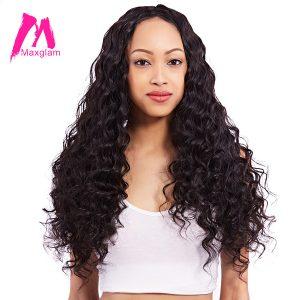 Maxglam Peruvian Virgin Hair More Body Wave Unprocessed Natural Color Human Hair Bundles Extension Free Shipping