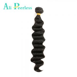 "Ali Peerless Hair Peruvian Loose Wave Hair One bundle Virgin Human Hair 10""to 28"" Nature Black Double Weft Free Shipping"