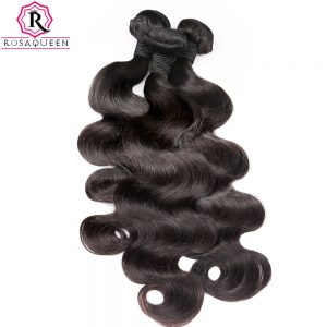 Peruvian Virgin Hair Body Wave 100% Human Hair Bundle 1pc Hair Weave Extension Can Buy 3 or 4 Bundles Rosa Queen Hair Products