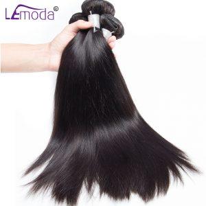 100% Uprocessed Peruvian virgin hair Straight human hair bundles 100g 1 Bundle hair extension Le Moda natural black hair weave