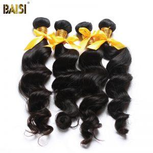 BAISI Natural Wave 100% Human Hair Extension Peruvian Virgin Hair,Natural Color,8-34 Inches Long Available Free Shipping