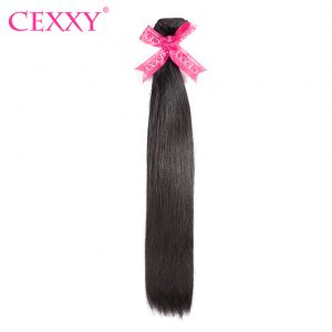 CEXXY Peruvian Virgin Hair Straight Natural Color 100% Human Hair Bundles Machine Double Weft Free Shipping