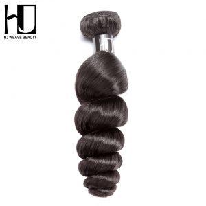 HJ Weave Beauty Peruvian Virgin Hair Loose Wave 100% Human Hair Bundles Natural Color Free Shipping
