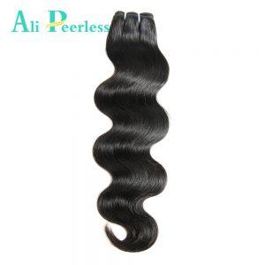 "Ali Peerless Hair Peruvian Body Wave Virgin Human hair 10""-28"" Nature Black Weaving Unprocessed Free Shipping One Bundle"